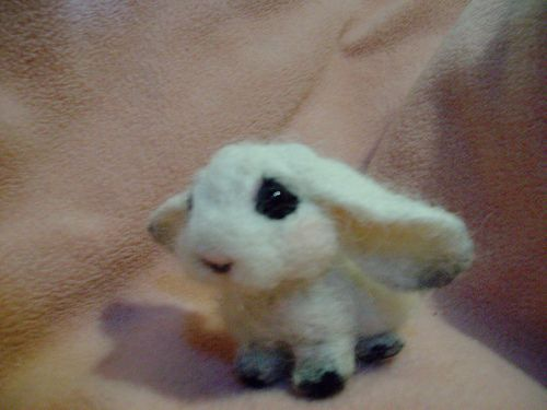 needle felted bunny by tami King