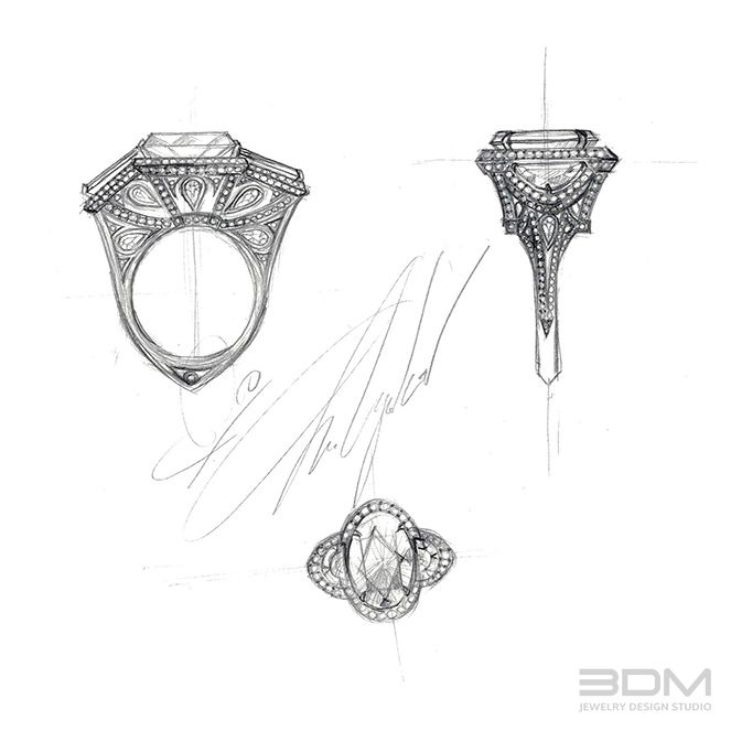 Custom engagement ring design for 9ct oval canary fancy yellow diamond.   Call now for a 30 min FREE consultation - 212.575.2099 or visit us at www.3dmjewelrydesign.com