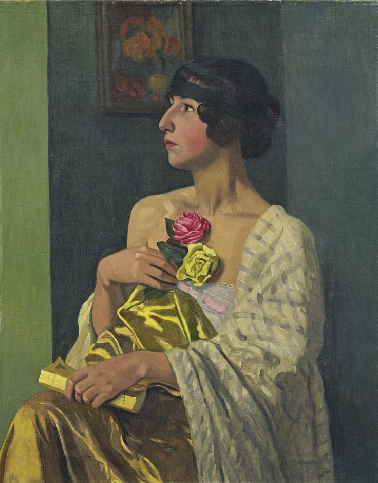 Félix Vallotton | La Femme aux Roses, 1919