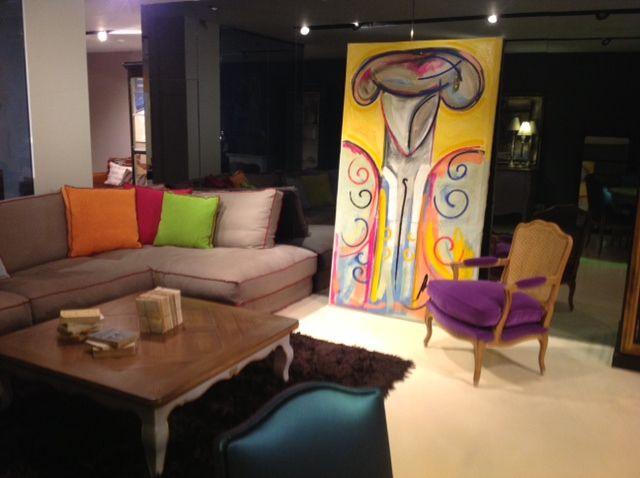 Gran Torero de 100 x 200 cm, realizado en óleo sobre lienzo