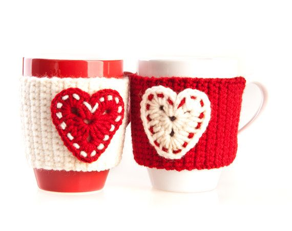 Set of 2 Hand Crocheted Mug Warmers. Cup by LittleKnittedThing, $22.00