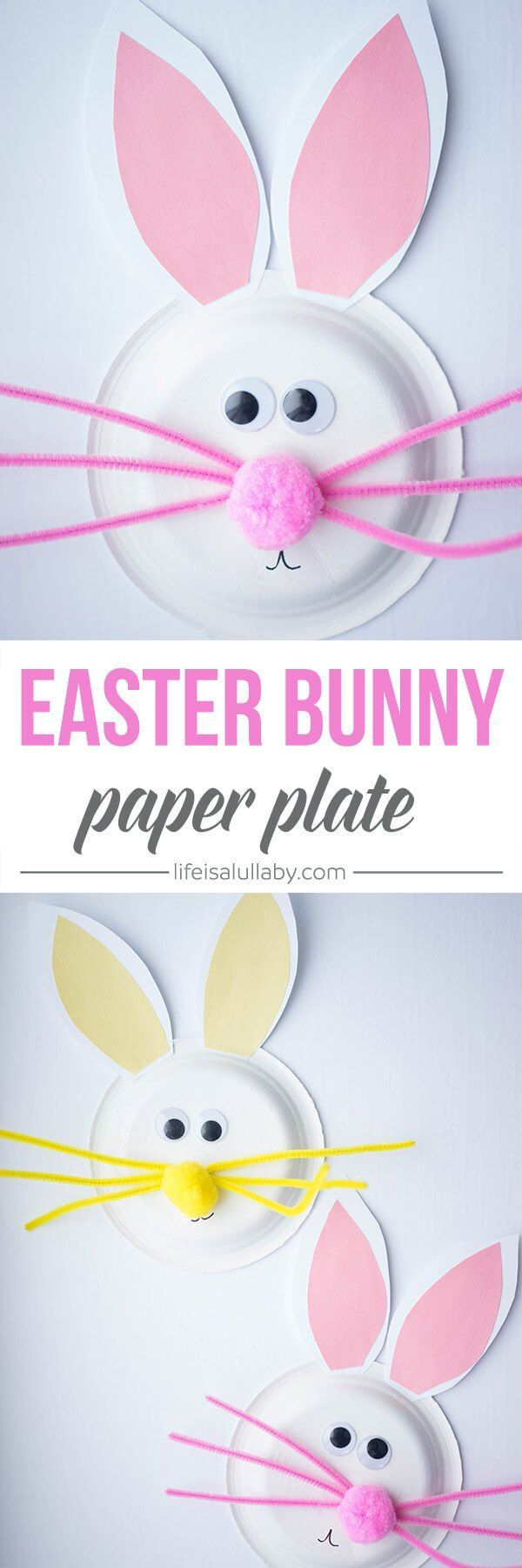 Paper Plate Easter Bunny Craft | A fun and simple Easter craft for kids! #ad