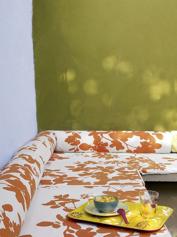 French By Design: Summer Mix : Color Collision: Decor Design, Design Mood, Summer Colour, Color Stories, Outdoor Color, Bright Wall, Fabric
