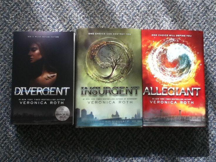 3 BOOKS - Veronica Roth - Divergent Series: Divergent, Insurgent, Allegiant