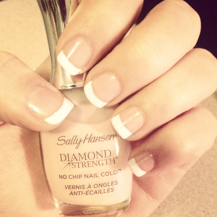 French manicure, cute and simple
