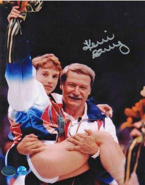 Kerri Strug Team USA Gymnastics Autographed 8x10 Photo -Being Carried by her Coach-