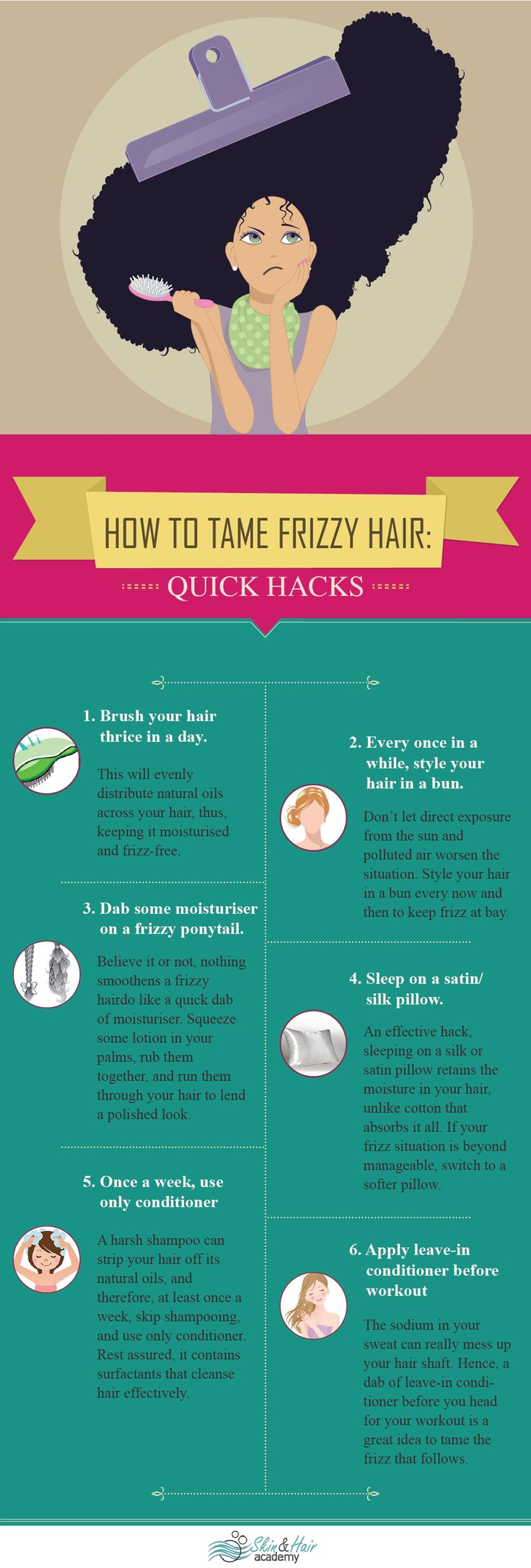 How to get rid of frizzy hair #frizzyhair #haircaretips #dryhair