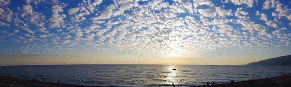 #Panorama Sea Sunset