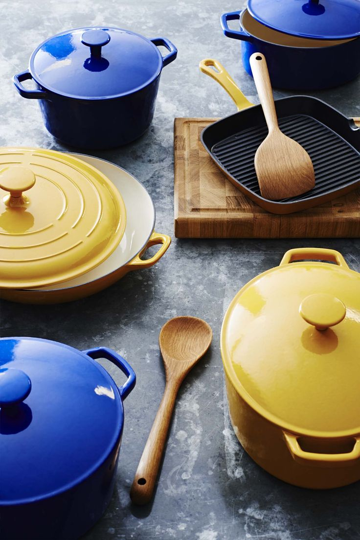 Cooking just got super colourful with our new cast iron cooking range, available in a range of hues and sizes.