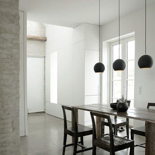Verner Panton Topan Pendant Lamp  Kitchen lights £150 approx also in white.  Eg @ Heals.