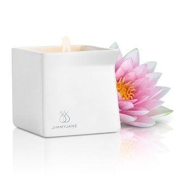Jimmyjane's Pink Lotus G2 Massage Oil Candle.  $20