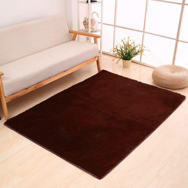 Door Rug Simple Fresh Style Rectangle Yoga Mat - COFFEE BROWN 40X60CM