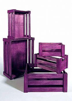DCSE Crates, wood, purple / μωβ ξύλινα καφάσια