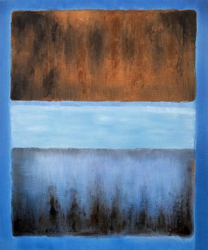 No. 61 Rust and Blue  Mark Rothko (inspired by)