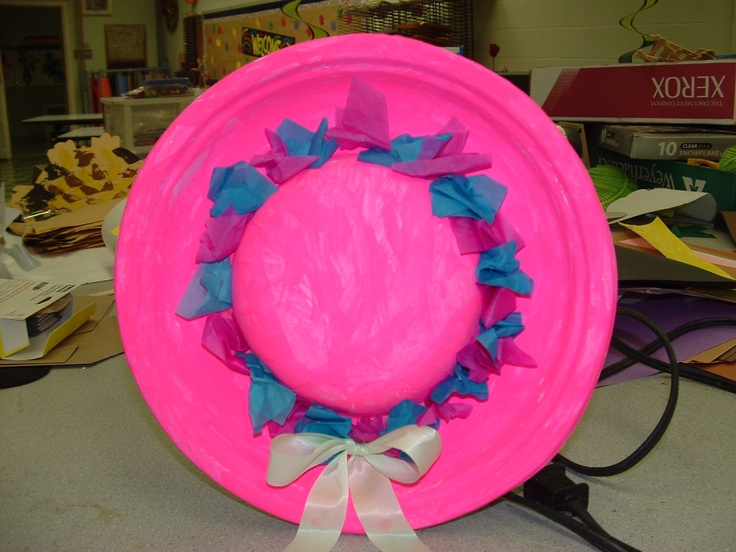 Spring Paper Plate Hat