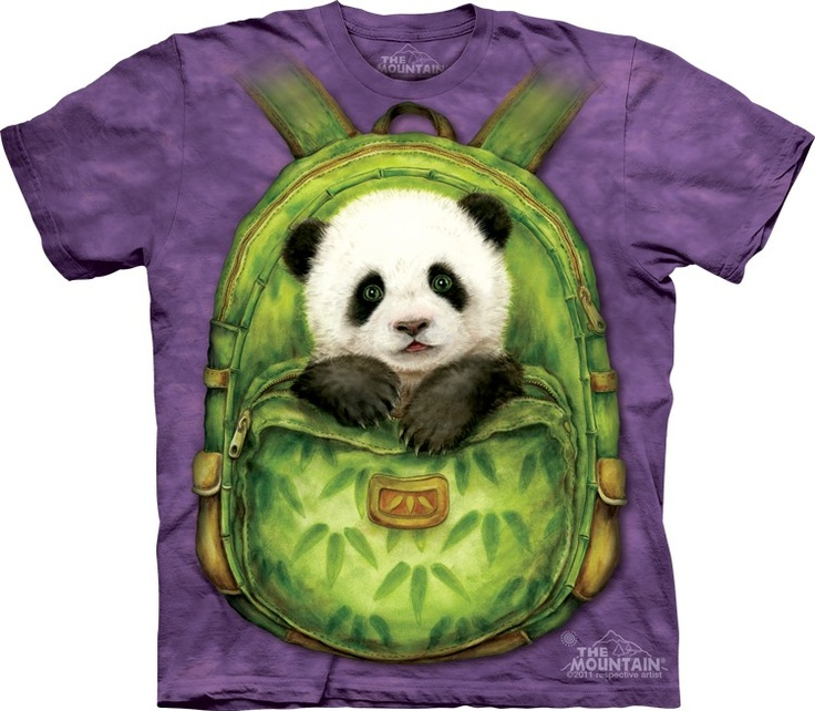 Back Panda The mountain t-shirt @ Epic-Shirts.com - Available at website