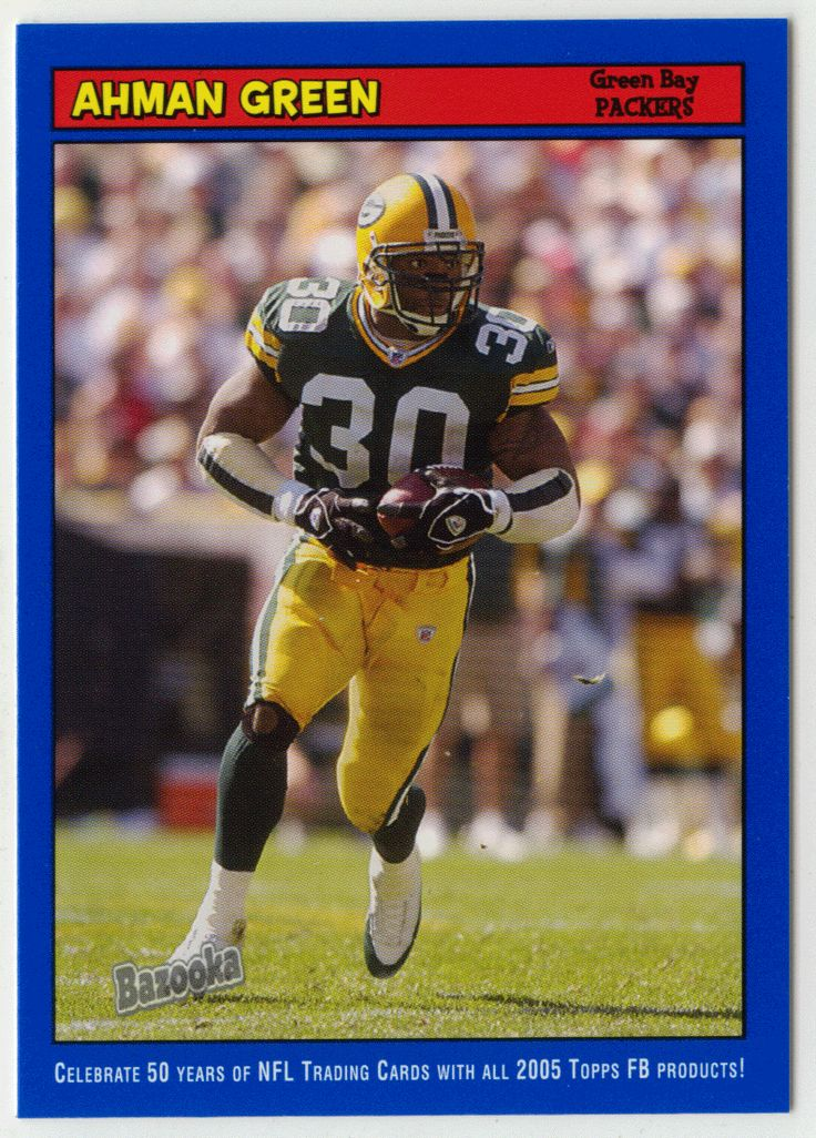 Ahman Green # 37 - 2005 Topps Baz Football - Blue