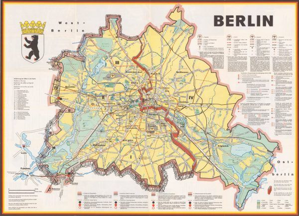 Map Of Berlin Wall West Berlin Was An Exclave Of West Germany