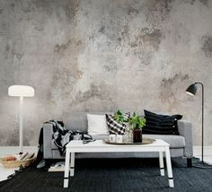1000 ideas about papier peint gris on pinterest papier for Salon avec papier peint