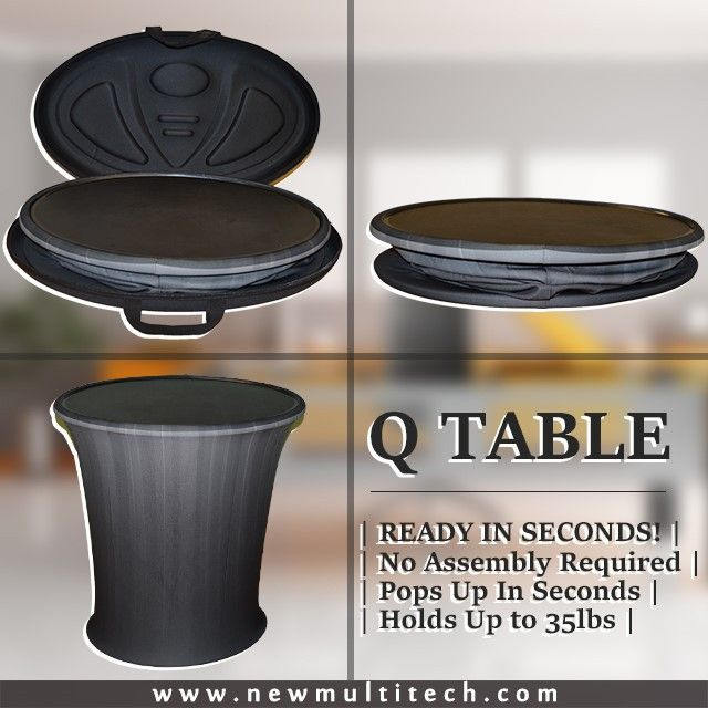 "Q Table ""Quick"" #quick #table #portable #ready #seconds #multitech #mediavision #popsup"