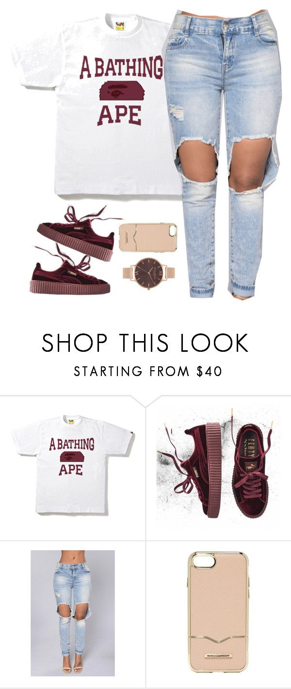 """""""ABATHING APE."""" by cheerstostyle ❤ liked on Polyvore featuring A BATHING APE, Puma, Rebecca Minkoff and Olivia Burton"""