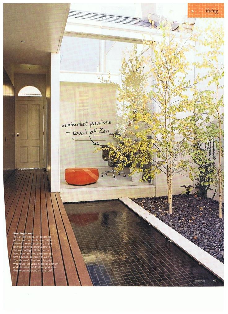 I like the idea of a courtyard and like the black tiling