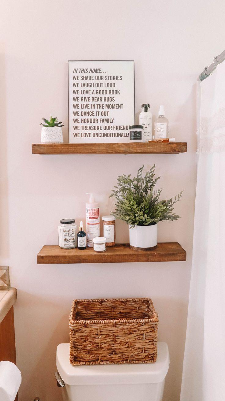 Sauberes ästhetisches BAD | Blaire Wilson frisch, Badezimmer, weiß, rosa, minimal, … #asth…