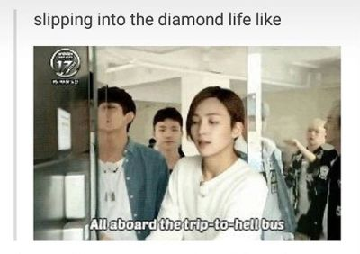 Seventeen why do you always have to make ma want to watch you everytime I have exams the next day? ToT Slipping into the diamond life is dangerous everyone. BEWARE!