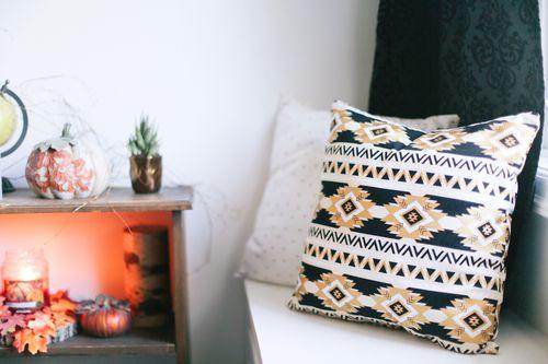 Gold Aztec Pillow $30.00