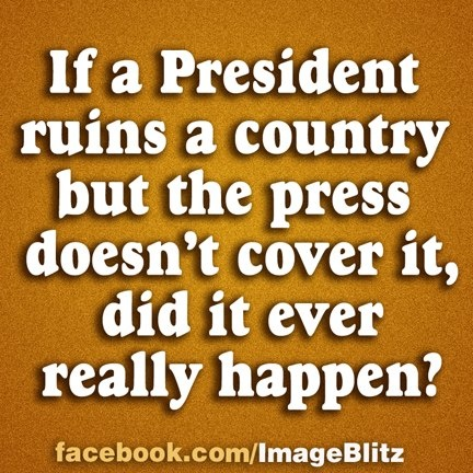Bush's fault, right?  If you read the liberal blogs it's all because of the prior Republican Administrations.  The media types want us to believe that.
