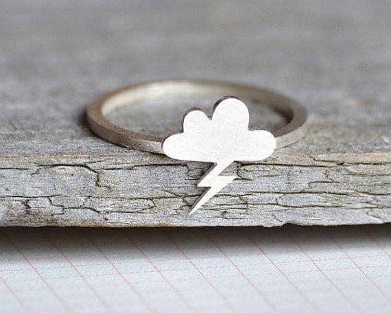 lightning cloud ring in sterling silver handmade in by huiyitan, £38.00