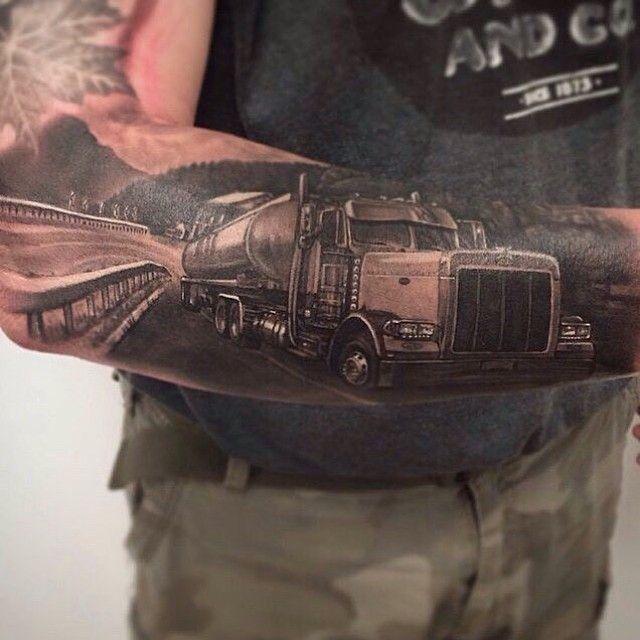 Tag friends!!#peterbilt#kenworthw900L#tattoo