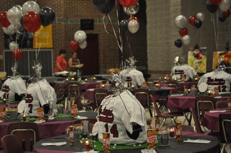 High school banquet school banquet decorations for Athletic banquet decoration ideas