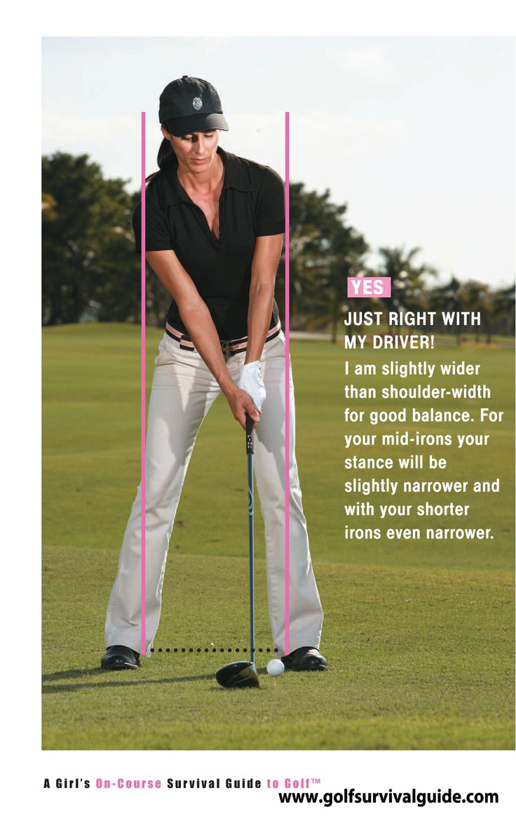 I see many players set up with too narrow of a stance. A longer shaft needs a wider-base to support those long drives down the fairway.
