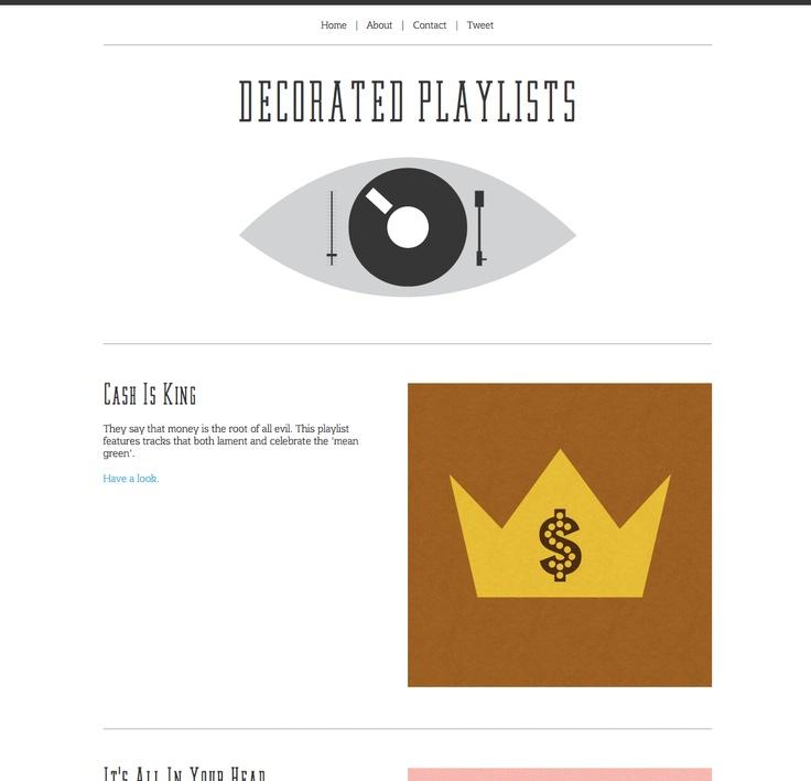 Decorated Playlists (http://decoratedplaylists.com/)