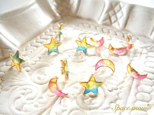 【再販】月と星のピアス