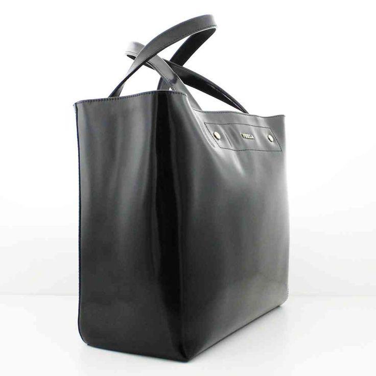 BORSA FURLA MUSA SHOPPER PELLE ONYX - NERO 754608 - Gheri Gherardi Showroom