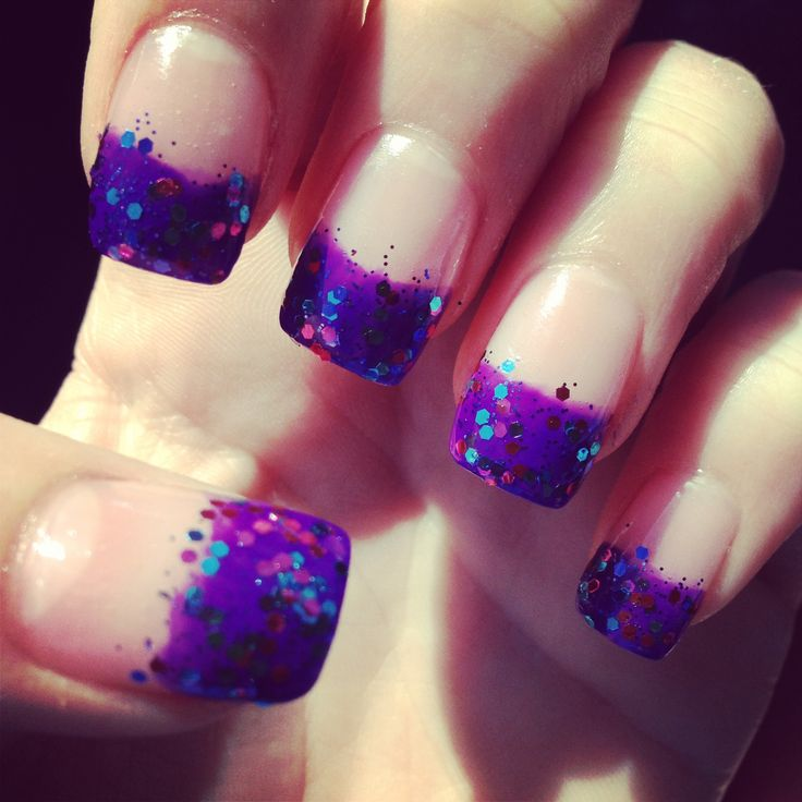Purple Nail Designs For Prom: Purple Nails I Had For Prom.