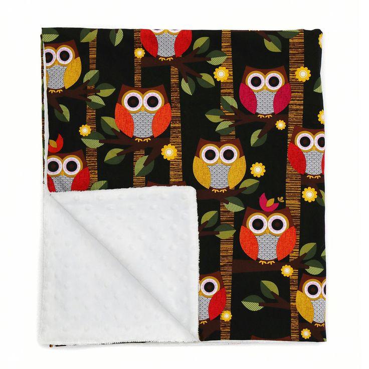 AIREN's BLANKET Vivid Owl Baby Plush Throw Blanket Kids Boy Girl 41.3 x 31.5 in in Baby, Nursery Bedding, Blankets & Throws   eBay