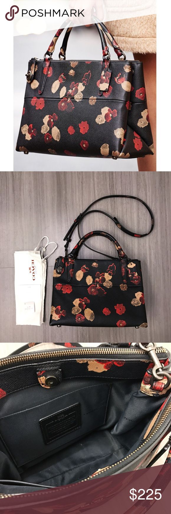 Coach Bourough bag Absolutely BEAUTIFUL Borough bag in floral leather from Coach. In excellent condition! Comes with dust bag and care card. Coach Bags