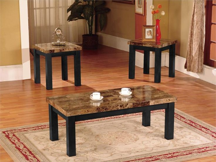 Simple Elegant This three piece coffee table set is perfect for displaying vibrant photos or any additional accessories that you would like to show off to future Simple Elegant - Fresh brown coffee table set Luxury