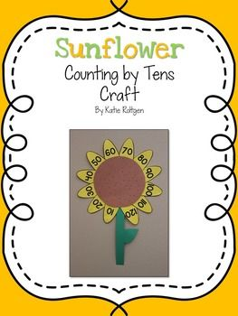 Sunflower Counting by Tens Craft {Kansas Day} - This activity is fun for any day, but is especially fun on Kansas Day!