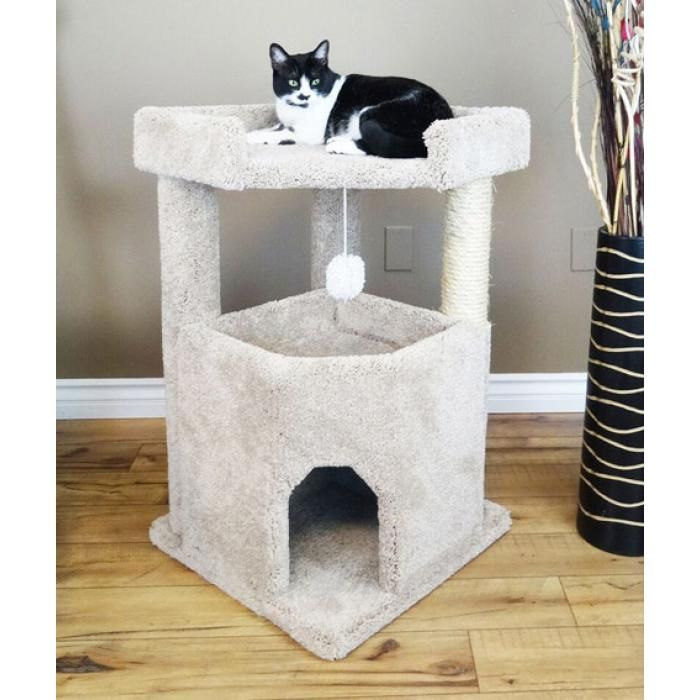 Cat Condo For Large Cats Made With Solid Wood Cat Tree Condo Cat Condo Cat Furniture Cat perches for large cats