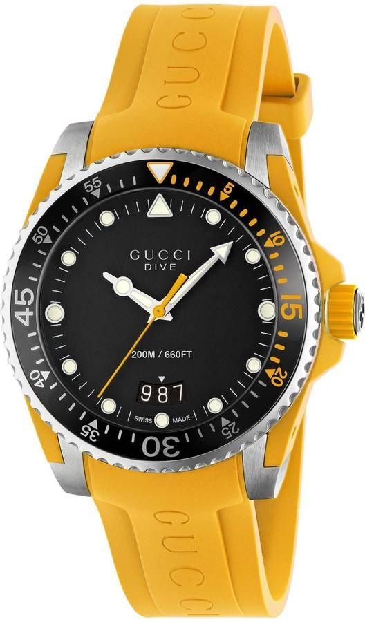 continuing my yellow obsession! Gucci Dive, 40mm afflink