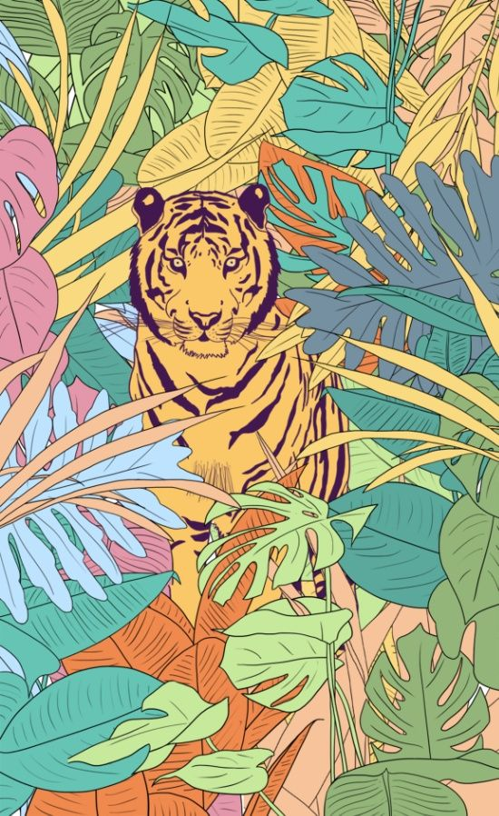 Tiger Art Print by Fernanda S