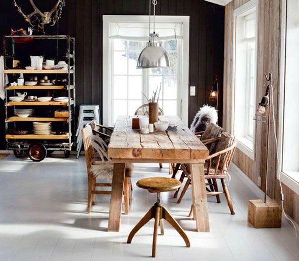 45 Elegant and Inspiring Industrial Kitchen Designs : Rustic Industrial Kitchen Design
