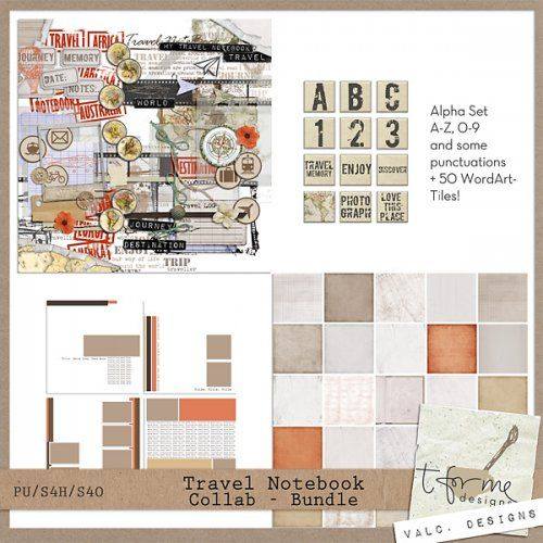 Travel Notebook Collab by t for me designs and Val C Designs : Scrap Art Studio, Where Creativity Soars