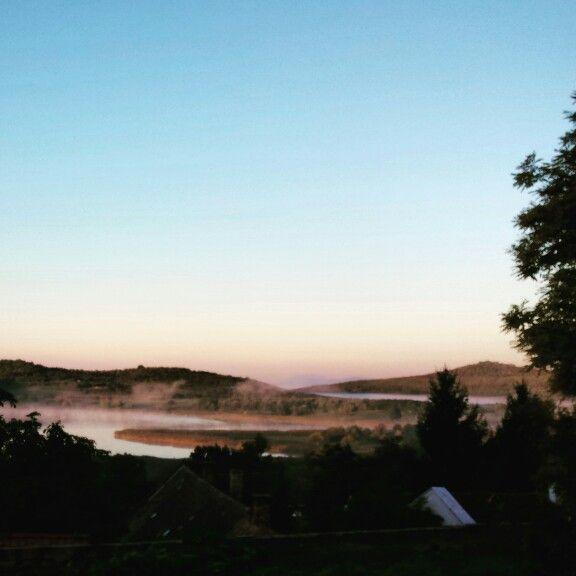 Tihany Belső-tó szeptemberi reggelen