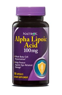 Natrol® Alpha Lipoic Acid is a vitamin-like compound that is used in the body to break down carbohydrates and generate energy for the body's organs. Numerous clinical and experimental data has shown the ability of Alpha Lipoic Acid to neutralize free radicals and to restore the levels of vitamins C and E. Whole Body Cell Rejuvenation. Helps protect Against Age-Related Damage. #Natrol #Healthy