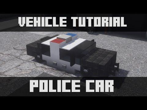 Minecraft Vehicle Tutorial - Police Car